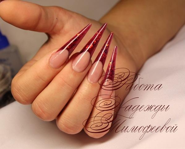 кофе дизайн ногтей: